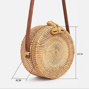 Handbags - Boho Rattan Straw Bag Box with Strap